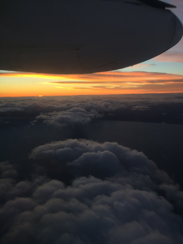 Flying to Auckland