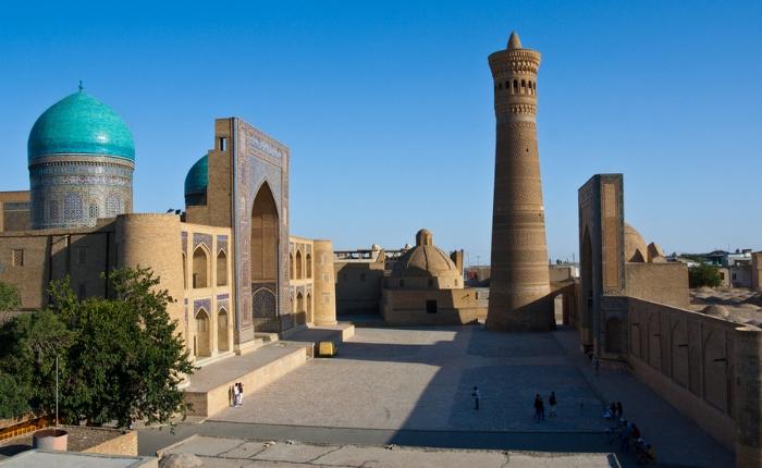 à voir à boukhara, artisanat ouzbékistan, couteaux, météo boukhara, sites incontournables, tapis, tchor minor, l'ensemble po-i kalon