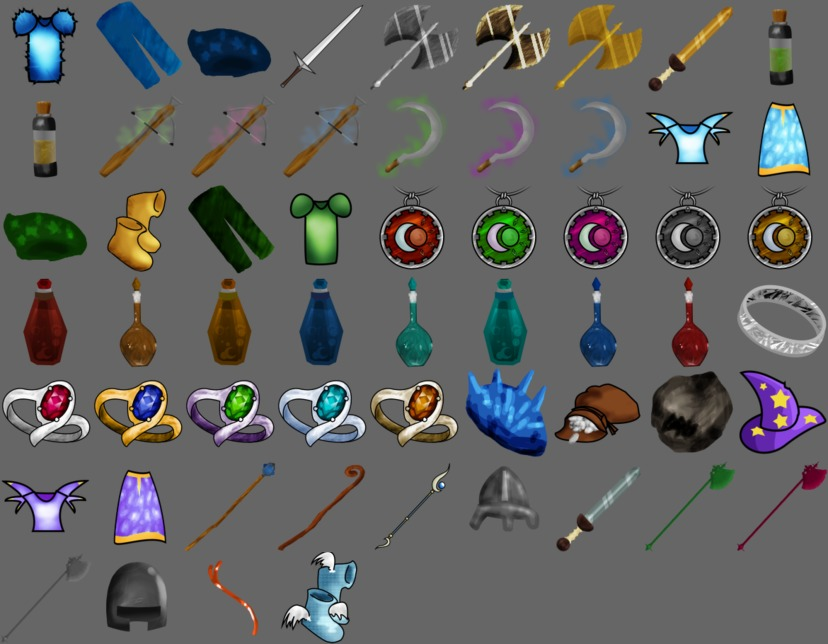 Drawn RPG Inventory Icons for Ardentryst by Jordan