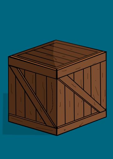 Cartoon Wooden Crate  OpenGameArtorg