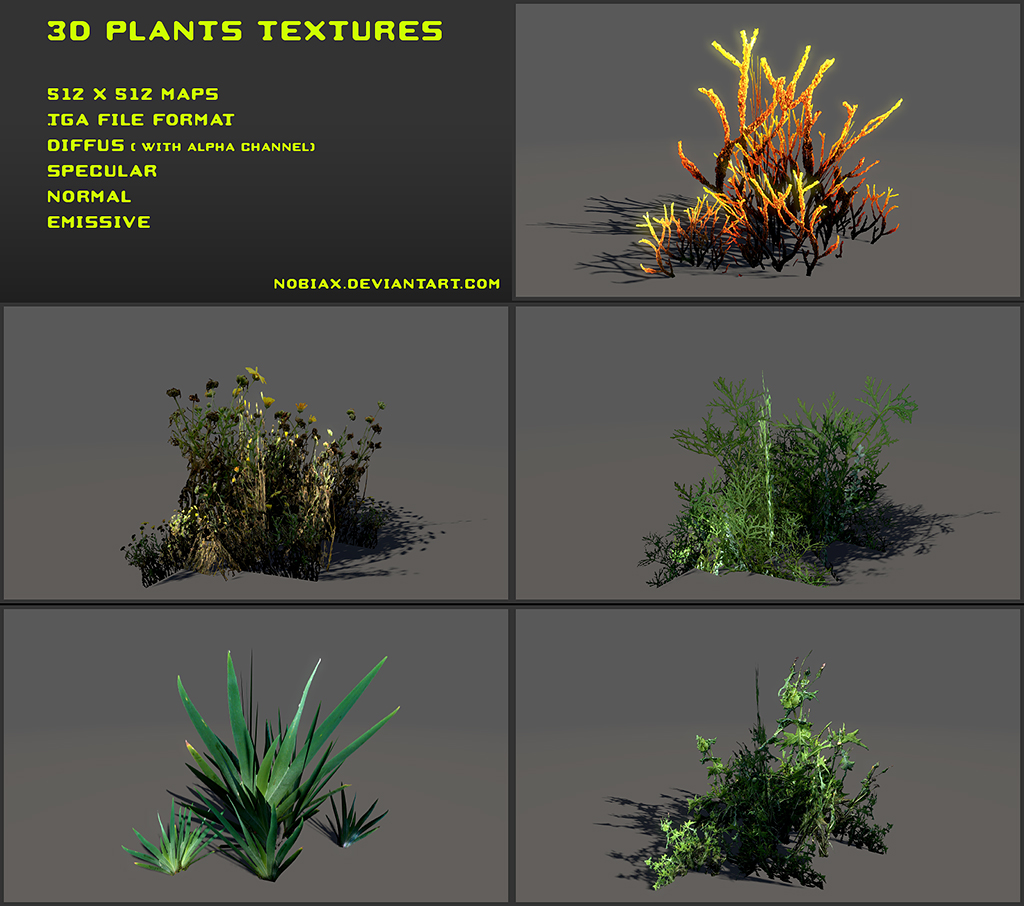 Plants textures Pack 01  OpenGameArtorg