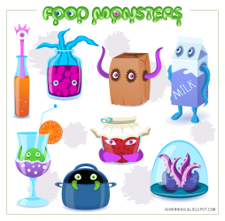 Food Monsters Pack OpenGameArt org