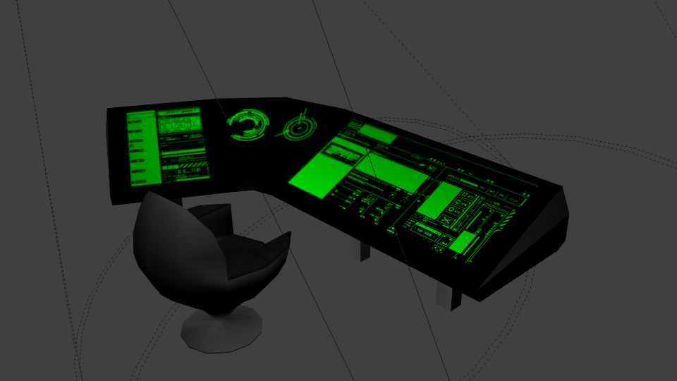 SciFi console and chair  OpenGameArtorg