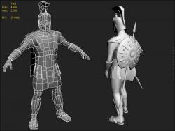 Achilles Spartan Greek Warrior Opengameart Org