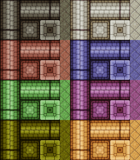 two dungeon wall tilesets  OpenGameArtorg