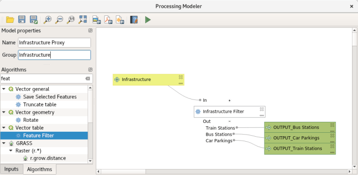 How to filter features in QGIS using the graphical