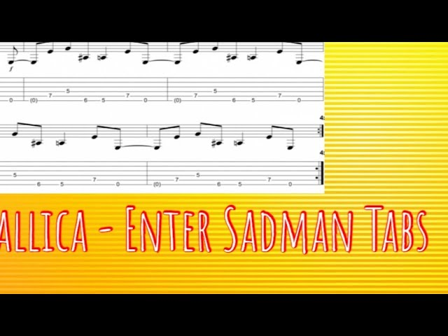 D c g now muscle shoals has got the swampers d c g and they ve been known to pick a song or two. Metallica Enter Sadman Guitar Lesson Tabs Open G Tuning