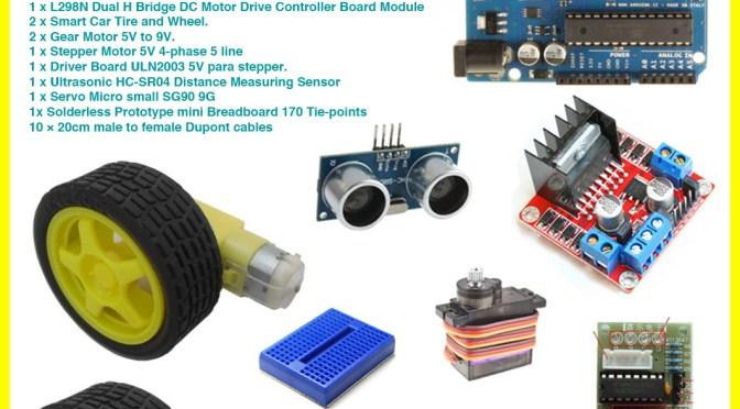 Aprender a manejar motores con Kool Mechatronics Arduino Kit : motores y servos, componentes de robot