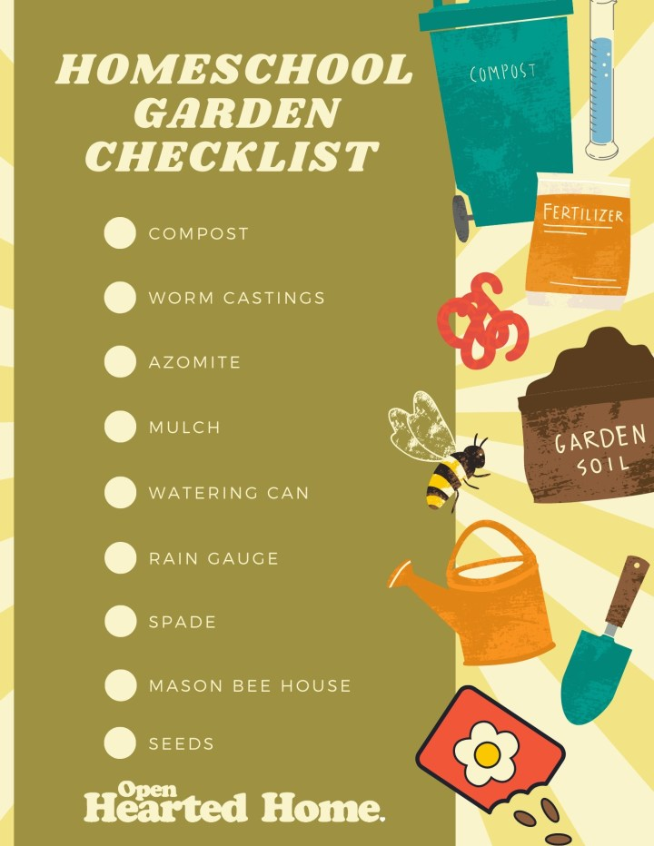 gardening for homeschool lessons gardening with kids checklist