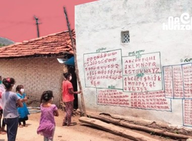 telangana-police-is-helping-tribal-kids-learn-alphabets-on-walls