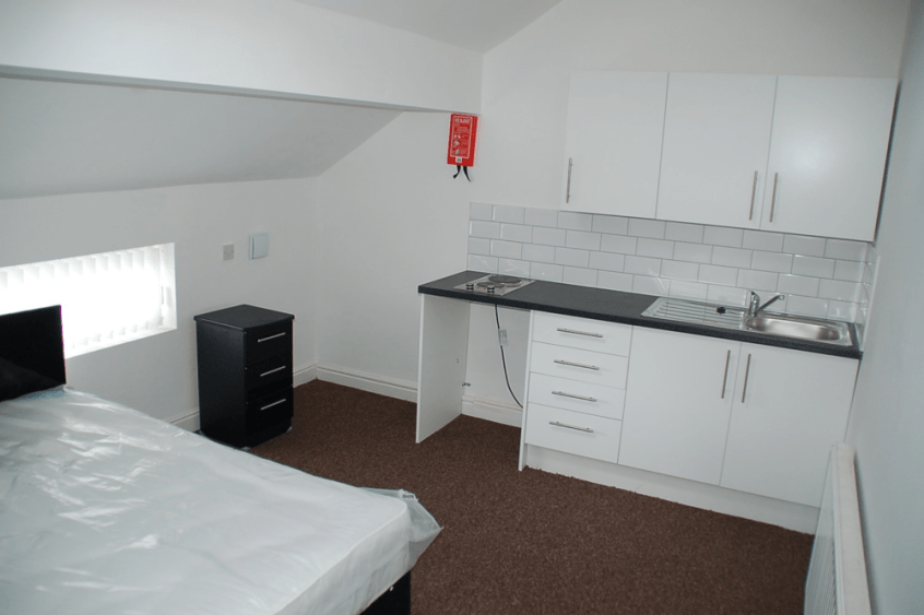 HMO refurb kitchenette 1 finished