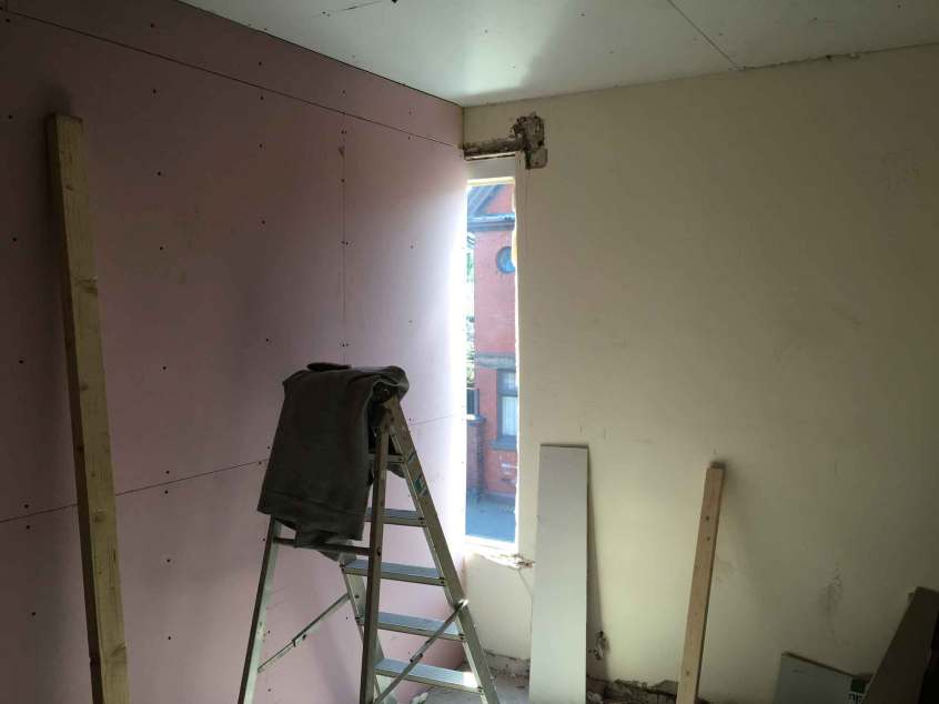 Fire proof stud walling