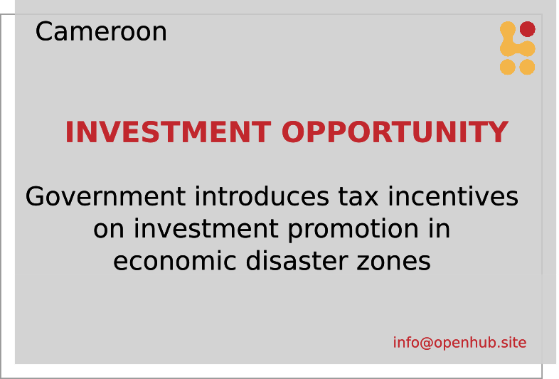 incentive for economic disaster zones
