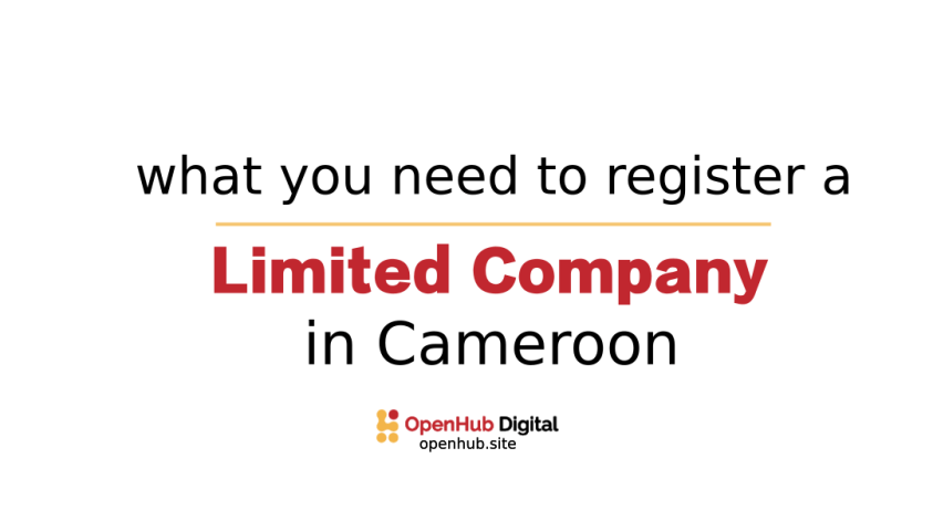 register a limited company in Cameroon