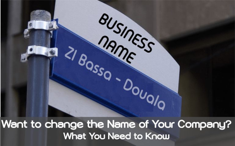 change the name of your company