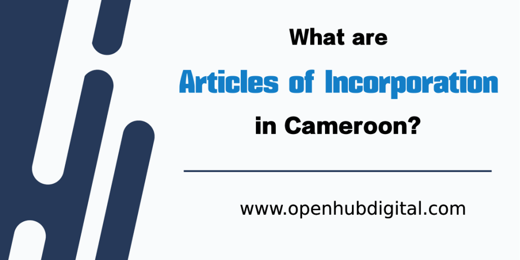 apply to incorporate a company in Cameroon