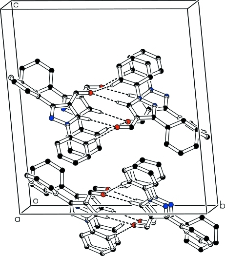 Packing diagram of the title compound, showing that mol