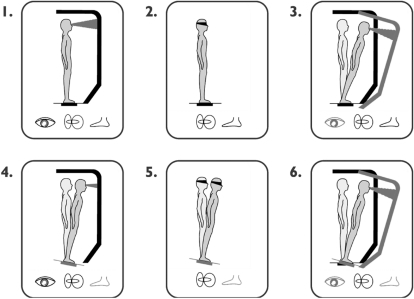The six test conditions of the Sensory Organization Tes