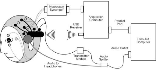 Schematic diagram of simultaneous research EEG system