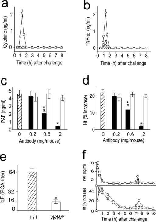 Involvement of TNF-α in the development of the late an