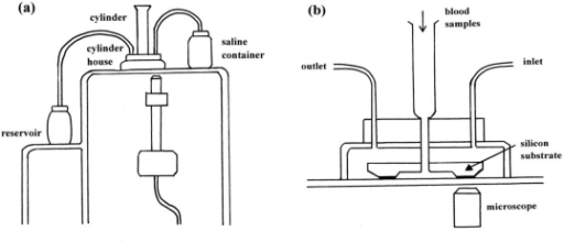 External appearance (a) of a micro-channel array flow