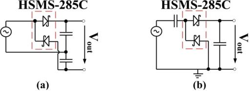 Circuit diagram of voltage doubler, (a) Delon doubler a