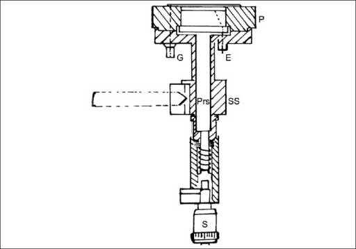 Schematic diagram of the extrapolation chamber (EC). G