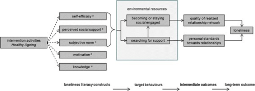 Intervention logic model of the Healthy Ageing programm