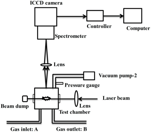 Schematic diagram of the laser-induced breakdown spectr