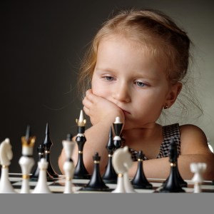chess by a girl