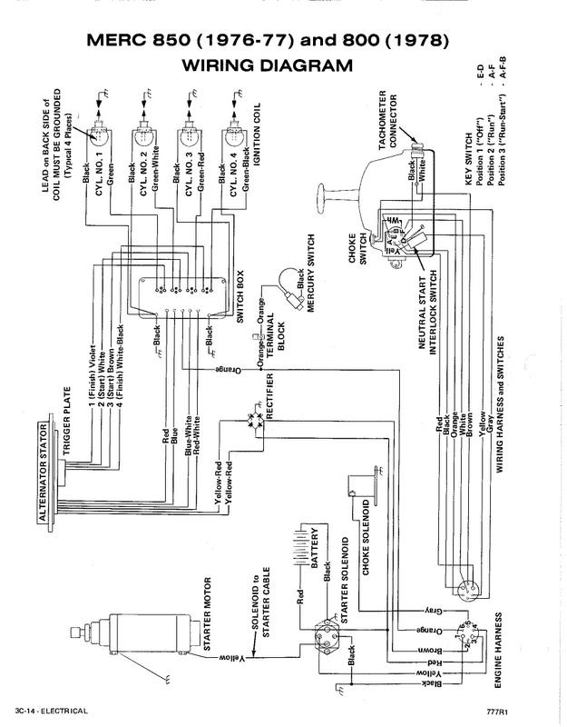 mercury wiring diagram ge front load washer 1976 outboard data for a 850 racing 1978