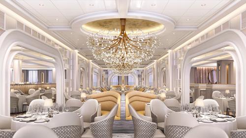 Oceania Vista's grand dining room.
