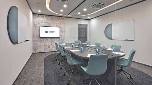 Meeting room at Connect@Changi.