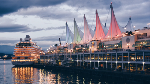 Crystal Serenity in the Port of Vancouver. Photo credit: Unsplash.