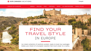 Air Canada Vacations Travel Styles