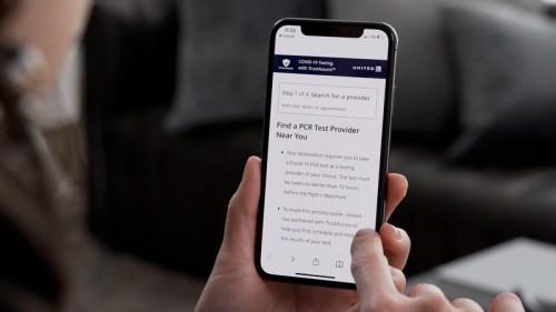 United Airlines' TrustAssure app.