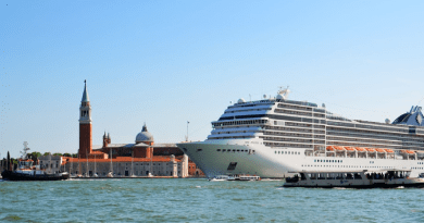 Cruise ship towers over Piazza San Marco