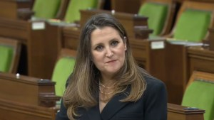 Chrystia Freeland in the House of Commons, 19APR