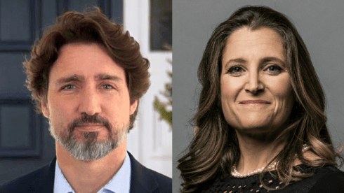 Prime Minister Justin Trudeau and Finance Minister Chrystia Freeland