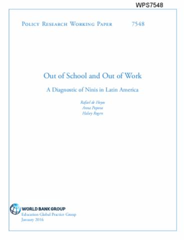 Out of School and Out of Work : A Diagnostic of Ninis in Latin America
