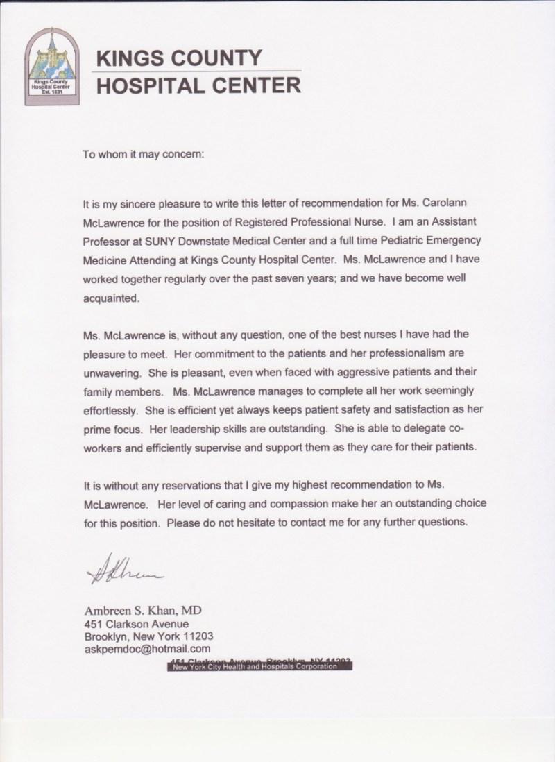 Dental Nurse Reference Letter Sample Lettercards