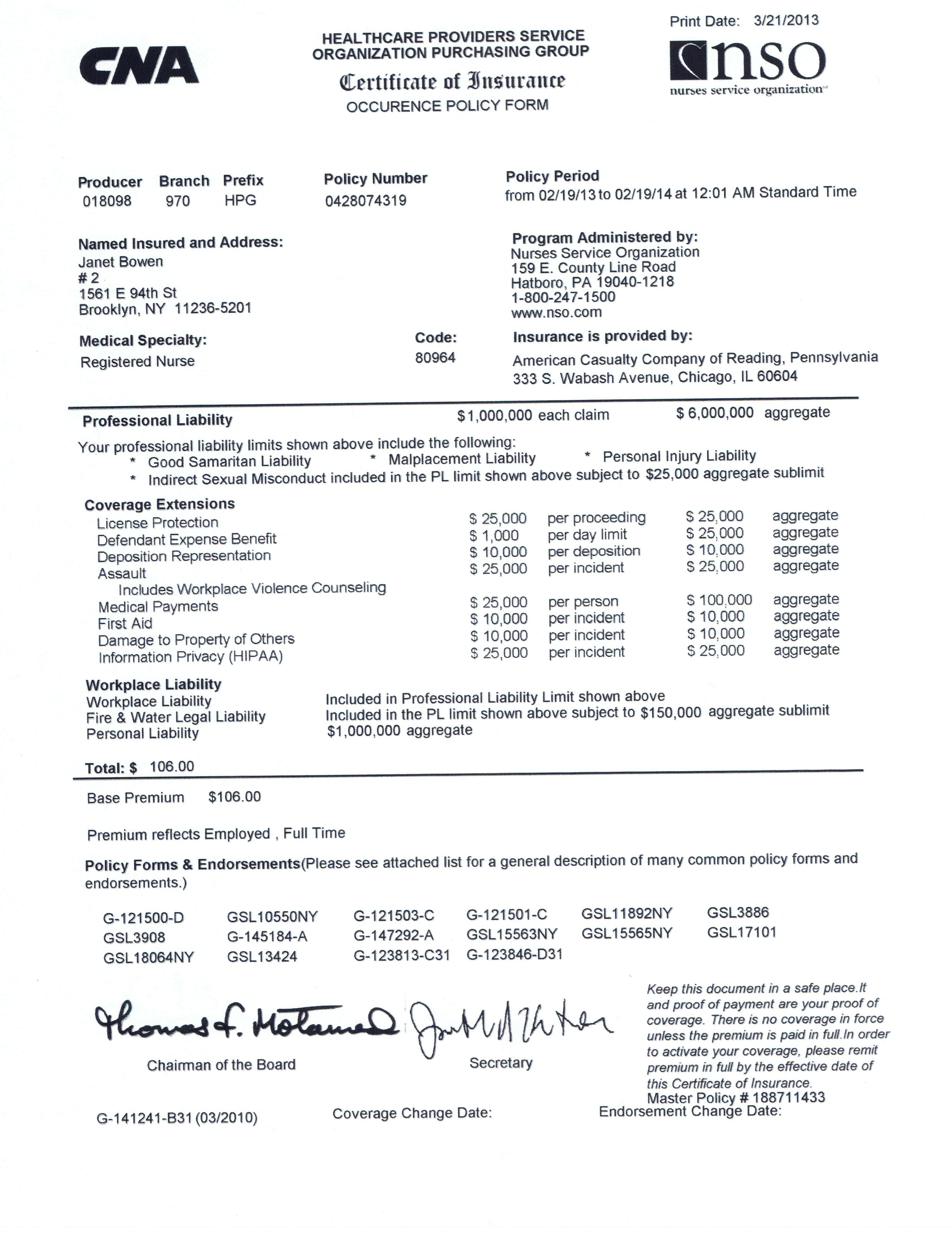 Malpractice Insurance  Janet Bowens ePortfolio