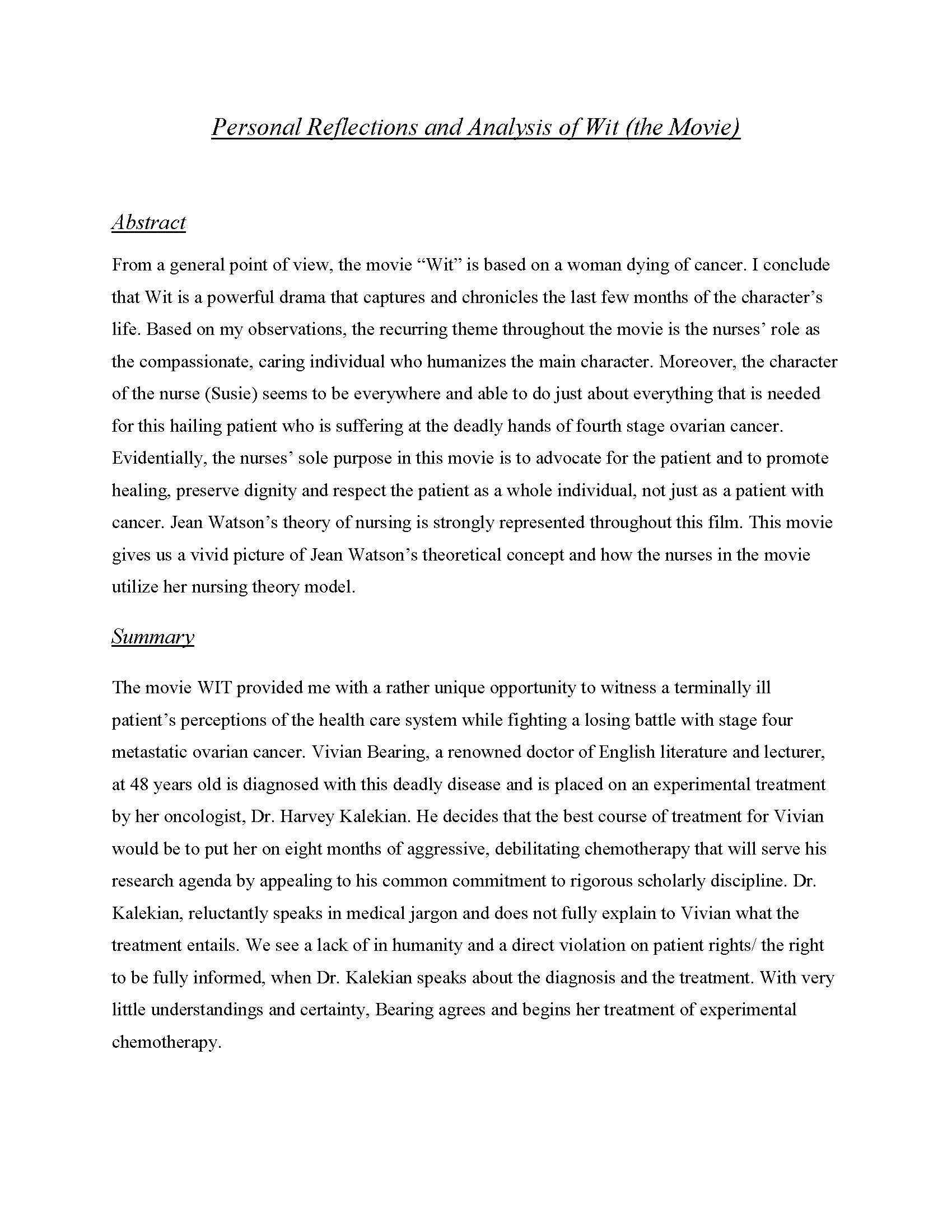 Academic Examples  KIM COPPINDOUGLASs ePortfolio