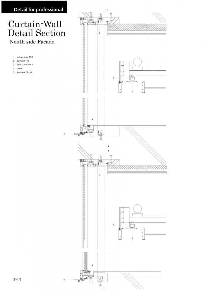 Marvelous Curtain Wall Detail Section Skye Colon B Tech III Research Page