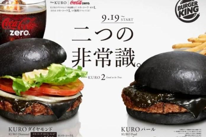 hamburger nero burger king