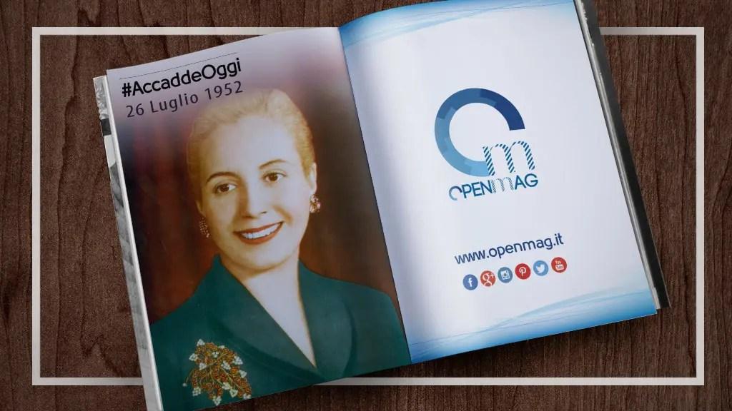 26 luglio 1952: muore Evita Perón