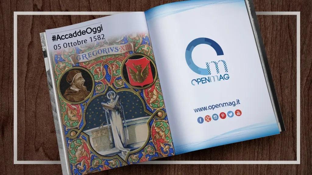 Calendario Accadde Oggi.5 Ottobre 1582 Entra In Vigore Il Calendario Gregoriano