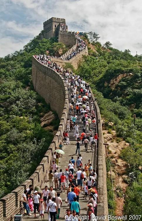 il tratto più frequentato della Grande Muraglia Cinese. Photo Credits.