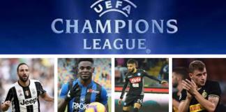 Bilancio Champions: schede dell'esordio delle italiane