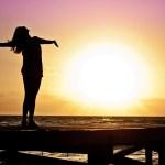 太陽と女性